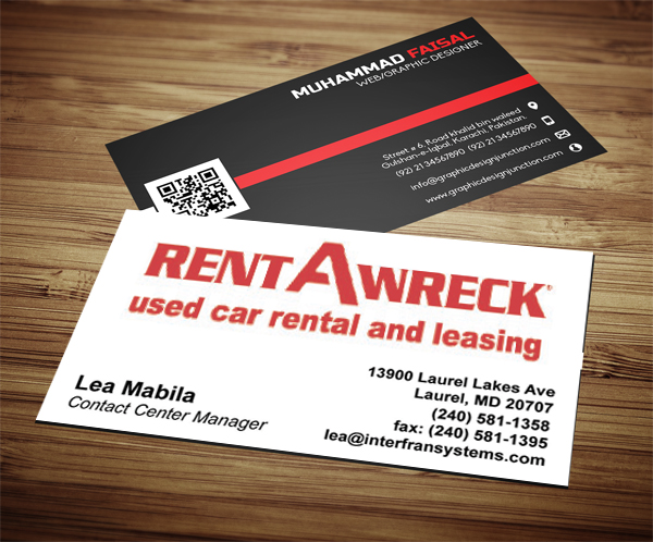 RENT-A-WRECK Business Cards